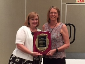 Donna Wesling received the Meritorious Service to the Profession award from new TSCPA Chair, Kathy Kapka. This is the highest honor given by TSCPA and recognizes a CPA who has made significant contributions to the profession.