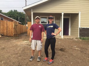Chapter members Bang Huynh and Jessica Sajak volunteered for a Habitat for Humanity build on November 5, 2016.