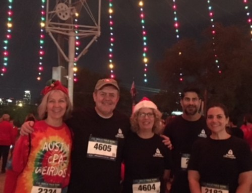 CPAs Keeping Austin Weird at the Trail of Lights Fun Run
