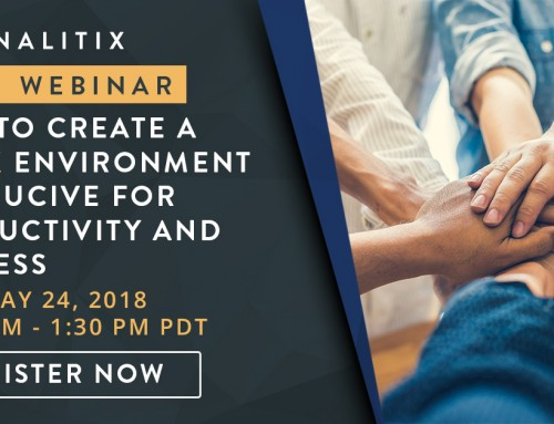 FREE Panalitix Webinar: How to Create a Work Environment Conducive for Productivity and Success – May 24