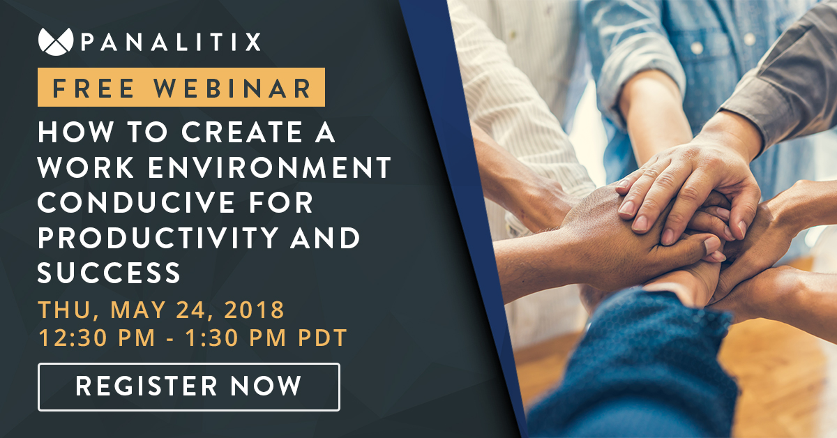 Free panalitix webinar how to create a work environment conducive free panalitix webinar how to create a work environment conducive for productivity and success may 24 sciox Choice Image