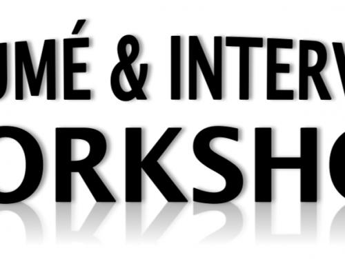 Student Interview/Résumé Workshop – October 26